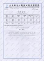 北京航天计量测试技术研究所检测证书3