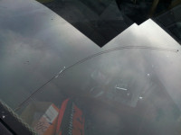 大众辉腾汽车玻璃长条裂缝修补效果图片