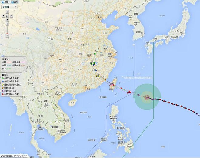 台风黄色警报:13号台风将正面影响我岛